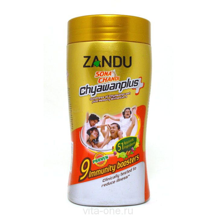 Чаванпраш Chyawanprash Sona Chandi Plus Zandu (Сона Чанди Плюс Занду) 450 г