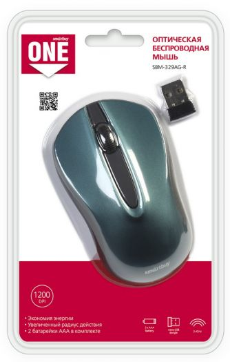 Мышь беспроводная Smartbuy ONE 329AG-B (синяя)