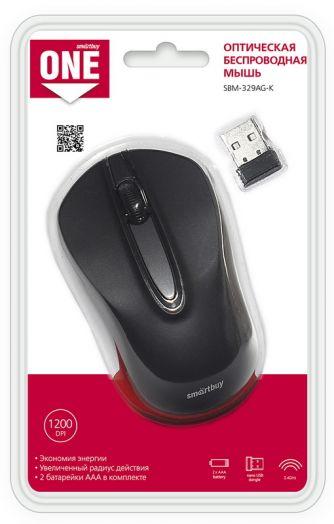 Мышь беспроводная Smartbuy ONE 329AG-K (черная)