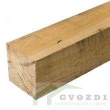 Брус деревянный клееный 100х200х6000 мм, естественной влажности, 1-3 сорт, ГОСТ 8486-86