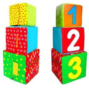 """Набор из 3 кубиков-мякишей """"Раз, два, три"""""""