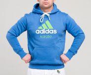 Толстовка с капюшоном сине-зеленая (Худи) Adidas Community Hoody Karate ADICHK