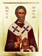 Павлин Милостивый (Ноланский) (рукописная икона)