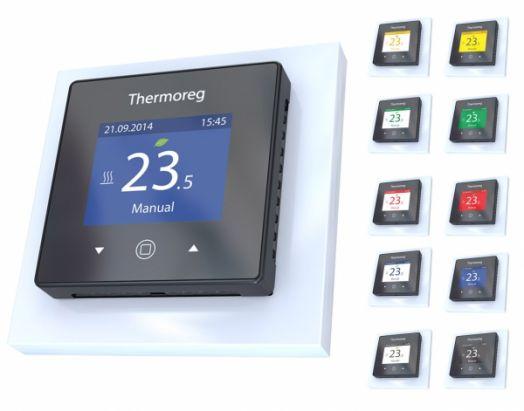 Электронный терморегулятор Thermoreg TI-970 цветной программируемый для теплого пола