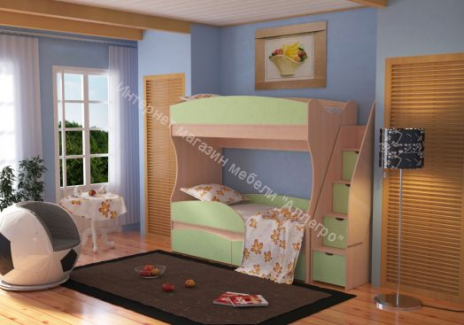 Кровать двухъярусная Омега-15 ЛДСП