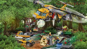 Конструктор Lari Город Вертолёт для доставки грузов в джунгли 10713 (60162) 1298 дет