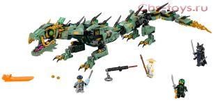 Конструктор Lari Ниндзя Механический Дракон Зелёного Ниндзя 10718 (70612) 573 дет