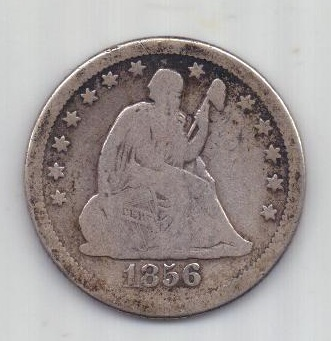 1/4 доллара 1856 г. США