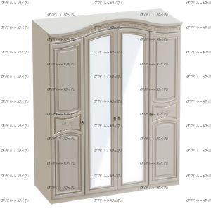 Шкаф 4-дверный Николь (176х56х235)