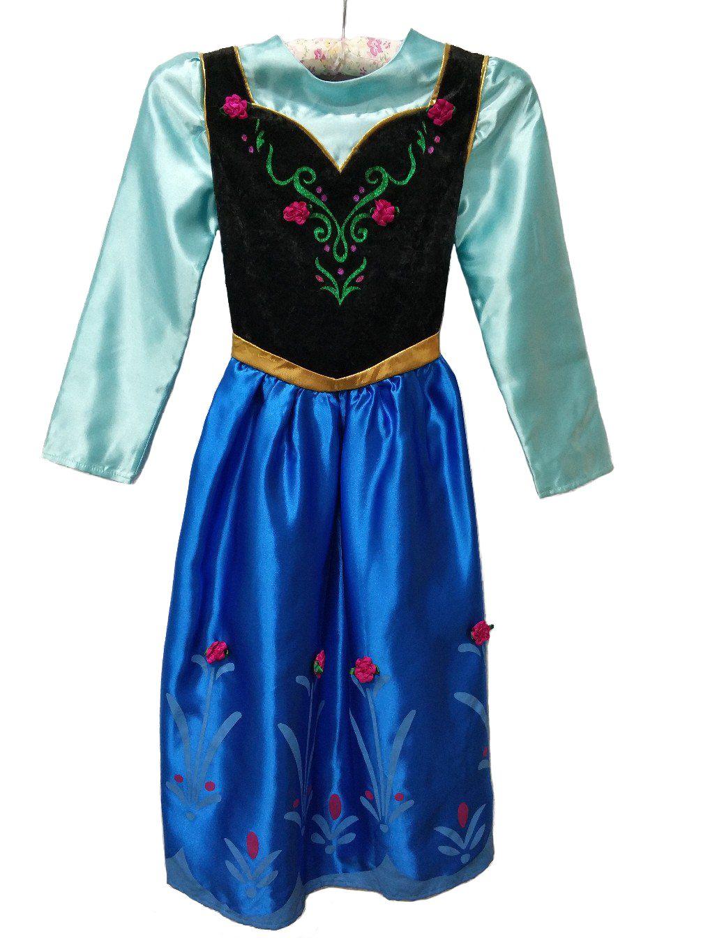 Костюм платье Анны Disneyland синее Холодное сердце