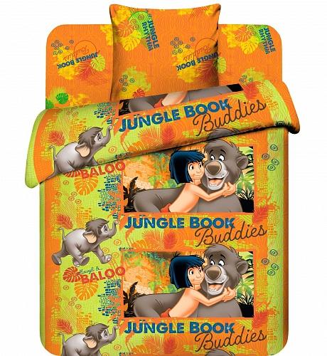 """Детское постельное белье """"Маугли и Балу"""", рис.4450."""