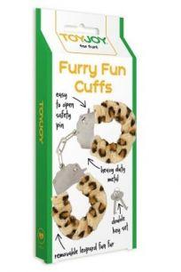 Наручники металлические с мехом Toy Joy Furry Fun Cuffs леопардовые
