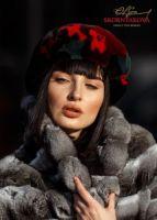 Меховой берет из норки купить пошить на заказ в Москве фото