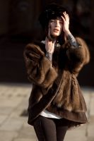 Дизайнерская шуба из дикого баргузинского соболя купить цены фото от бренда