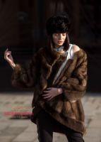 Куртка из соболя линия couture 3 D раскладка