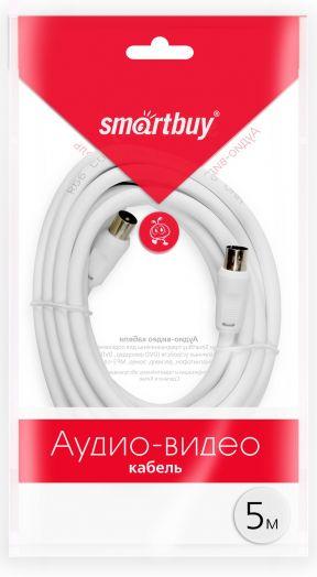 Антенный кабель Smartbuy, разъемы M-F,  длина 5,0 м (KTV235)