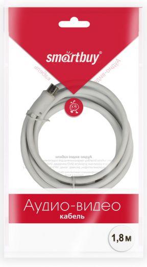 Антенный кабель Smartbuy, разъемы M-F,  длина 1,8 м (KTV231)