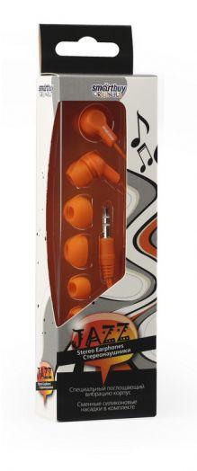Наушники внутриканальные Smartbuy JAZZ (оранжевые)