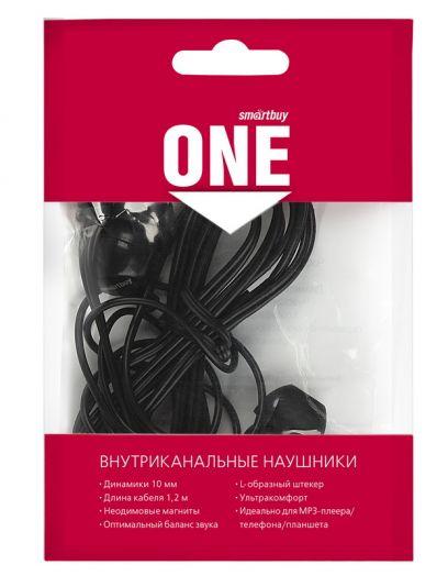 Наушники гарнитура проводные Smartbuy ONE (черные)