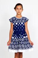 """Платье для девочки """"Оливия-синее"""""""