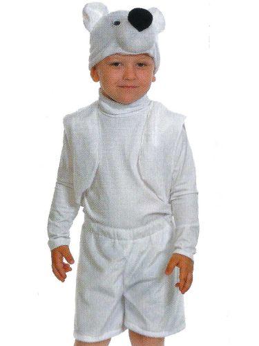 """Костюмчик карнавальный """"Мишка-белый"""" для мальчика 3-5 лет КК003009"""