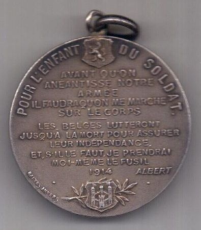 медаль 1914 г. AUNC Бельгия