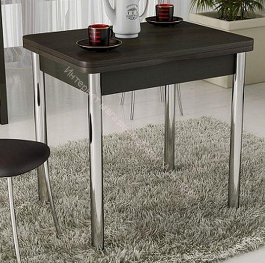 Стол обеденный с хромированными ножками «Лион»  Венге