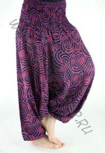 10 штанов алладинов с рисунком Спирали, разные цвета