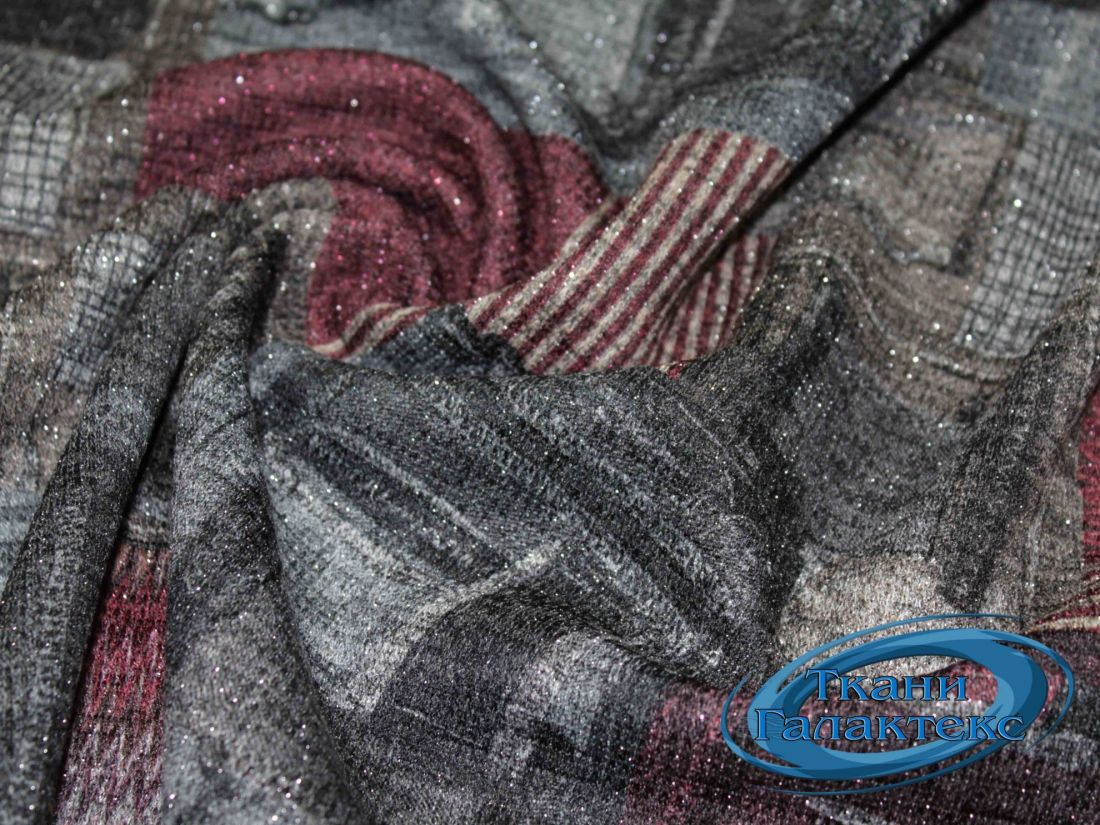 Трикотаж меланж принт с люрексом 9569/D4/C#2
