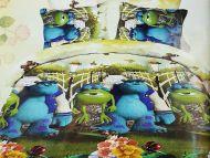 """Постельное белье детское 1,5СП САТИН """"Корпорация Монстров"""" GLL6677"""