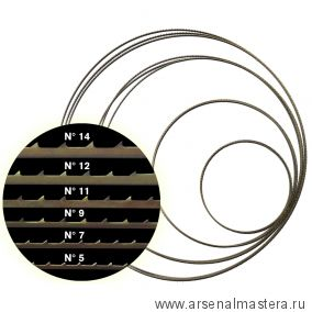 Полотно для ленточной пилы Pegas N9 М00012497