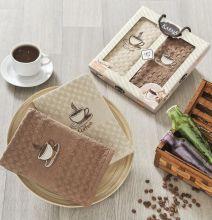 "Комплект салфеток  вафельных ""KARNA"" AFFAGATO COFFEE  45x65 - 2 шт.  Арт.2443-2"
