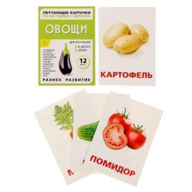 """Обучающие карточки  Г. Домана """"Овощи"""" 12шт"""
