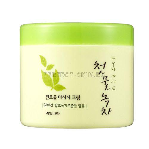Welcos Green Tea Control Massage Cream