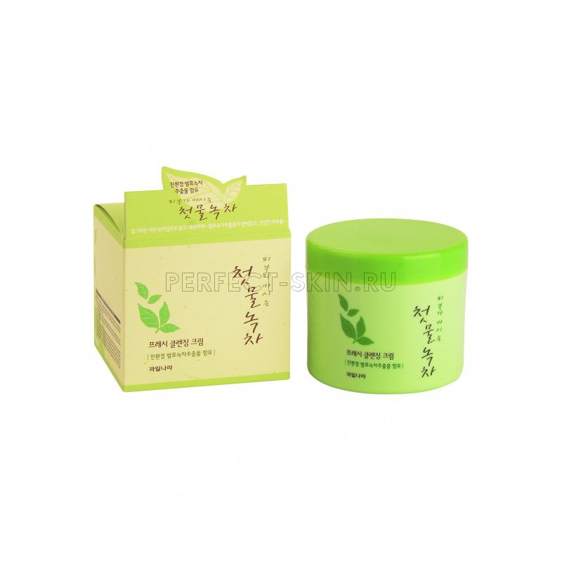 Welcos Green Tea Fresh Cleansing Cream