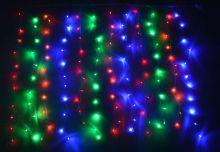 Гирлянда занавес влагостойкая 3х3 метра цветная 300 ламп