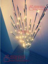 Светодиодная гирлянда ВЕТКА, 20 LED mini-ламп, 70 см, батарейки