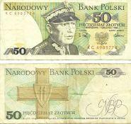 Польша - 50 Злотых 1988 VF