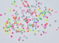 Украшение для ногтей - квадрат 2 мм(50 штук в пакетике) Цвет: микс