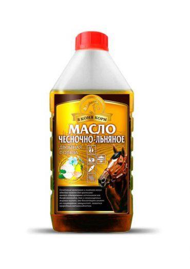 "Чесночно-льняное масло ""в коня корм"" 1 литр"