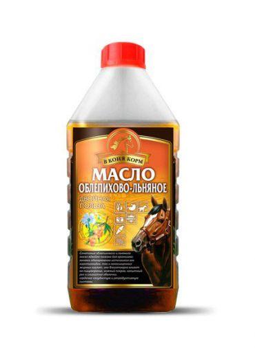 """Облепихово-льняное масло """"в коня корм"""" 1 литр"""