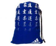 Мешок для кимоно сине-белый Adidas Satin Carry Bag Judo ADIACC123