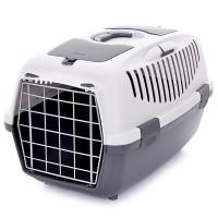 Переноска Stefanplast Gulliver 3 серая до 10-12кг с металлической дверцей 61х40х38см для кошек и собак