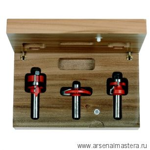 CMT 900.024.11 Комплект фрез концевых для арочных мебельных дверок (Меб. фасады) 3 шт S8