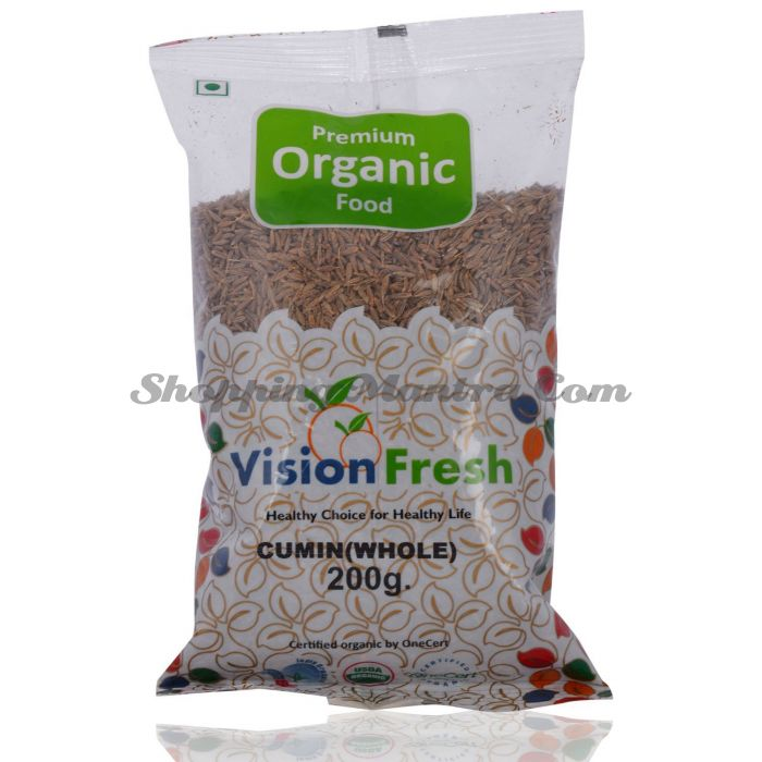 Зира (кумин) зерна Висион Фреш Органик | Vision Fresh Organic Cumin Seed (Jeera Whole)