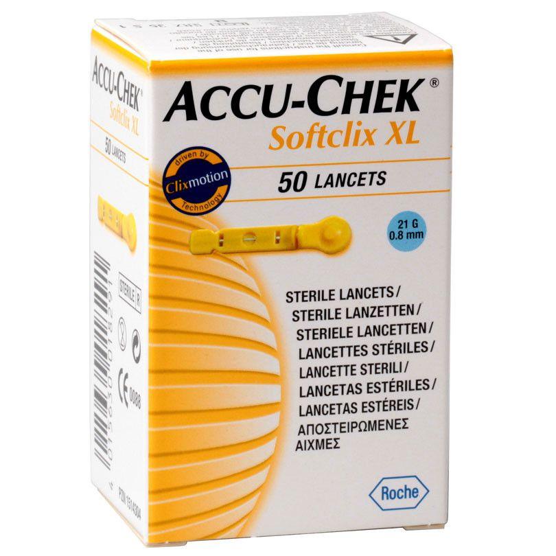 """Ланцеты """"Акку-Чек Софткликс ИксЭль"""" (Accu-Chek SoftclixXL) – 50 шт. (0,8 мм, 21G)"""