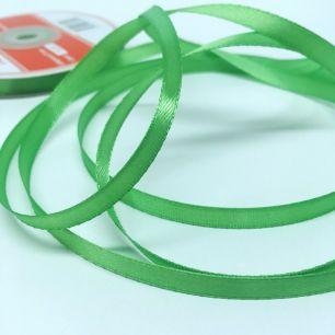 Лента атласная зеленая 3 мм для творчества