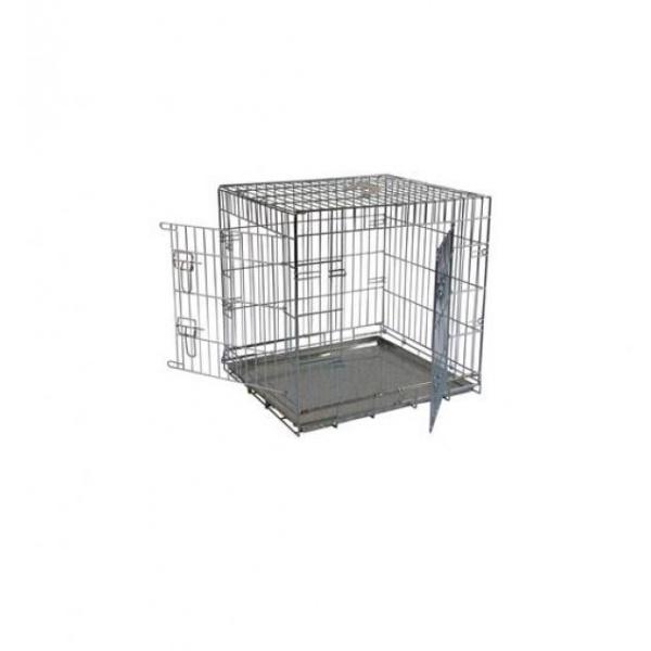 Клетка Papillon металлическая с 2 дверками 76х54х61см облегченная для кошек и собак