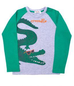 джемпер с рисунком крокодила мальчику