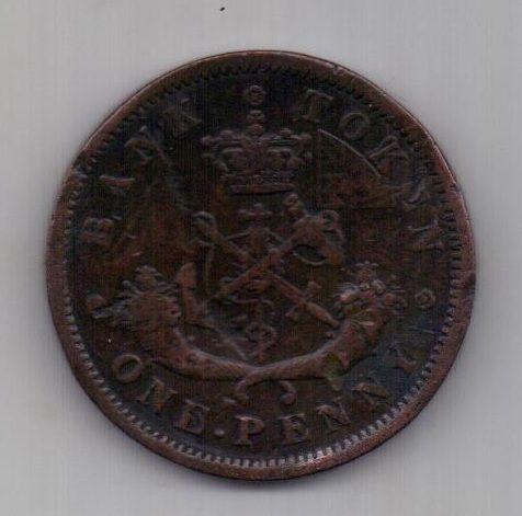 1 пенни 1857 г. Канада. Великобритания